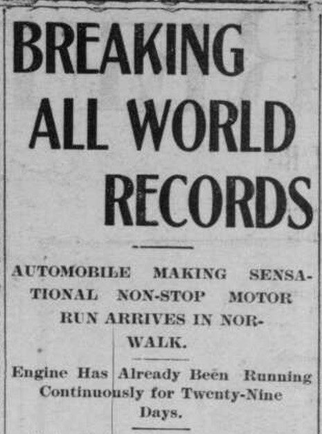The Thomas Flyer Auto Arrives in Norwalk – Setting a NewRecord