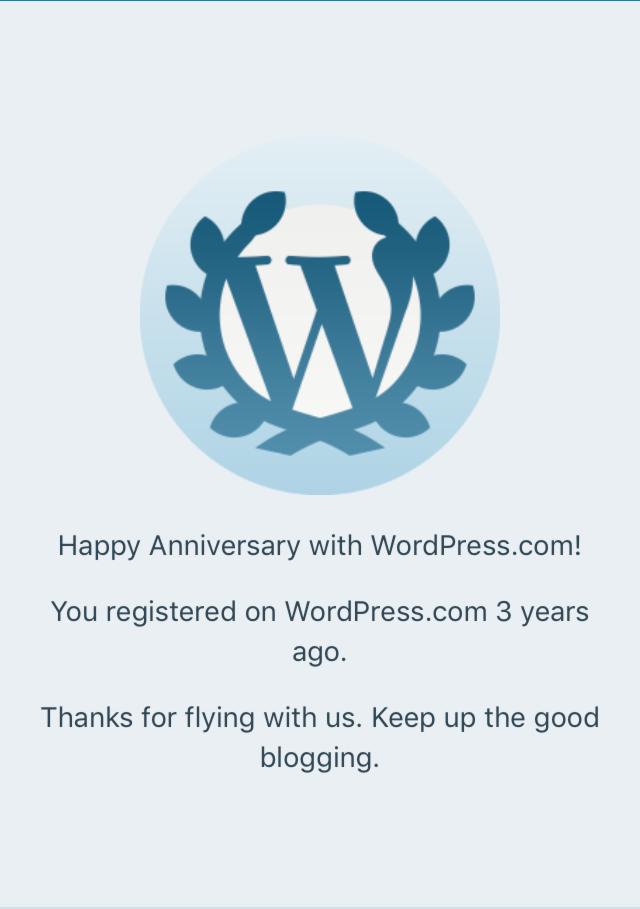 3 YEAR BLOG